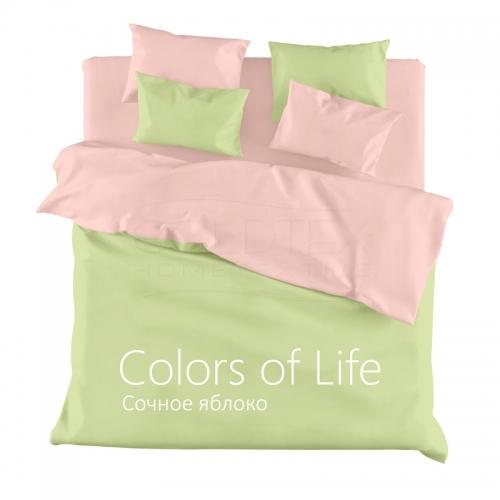 Постельное белье однотонное Colors of Life 2-спальный Сочное яблоко