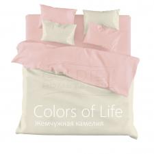 Постельное белье однотонное Colors of Life 2-спальный Жемчужная камелия